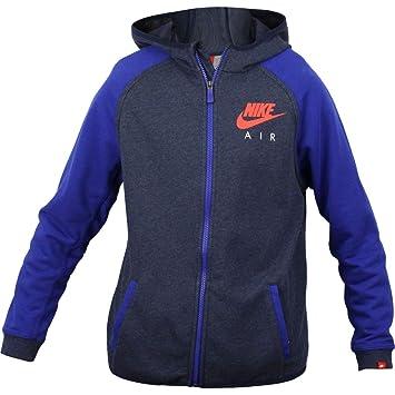Nike YA FT HBR FZ HD-Air YTH - Sudadera para niño, Color Negro/Azul, Talla M: Amazon.es: Zapatos y complementos