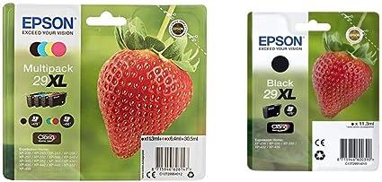 Epson Original 29xl Tinte Erdbeere Xp 235 Xp 332 Xp 335 Xp 432 Xp 435 Xp 245 Xp 342 Xp 345 Xp 442 Xp 445 Multipack 4 Farbig C13t29914022 Schwarz Original Tintenpatronen Pack Of 1 Bürobedarf Schreibwaren