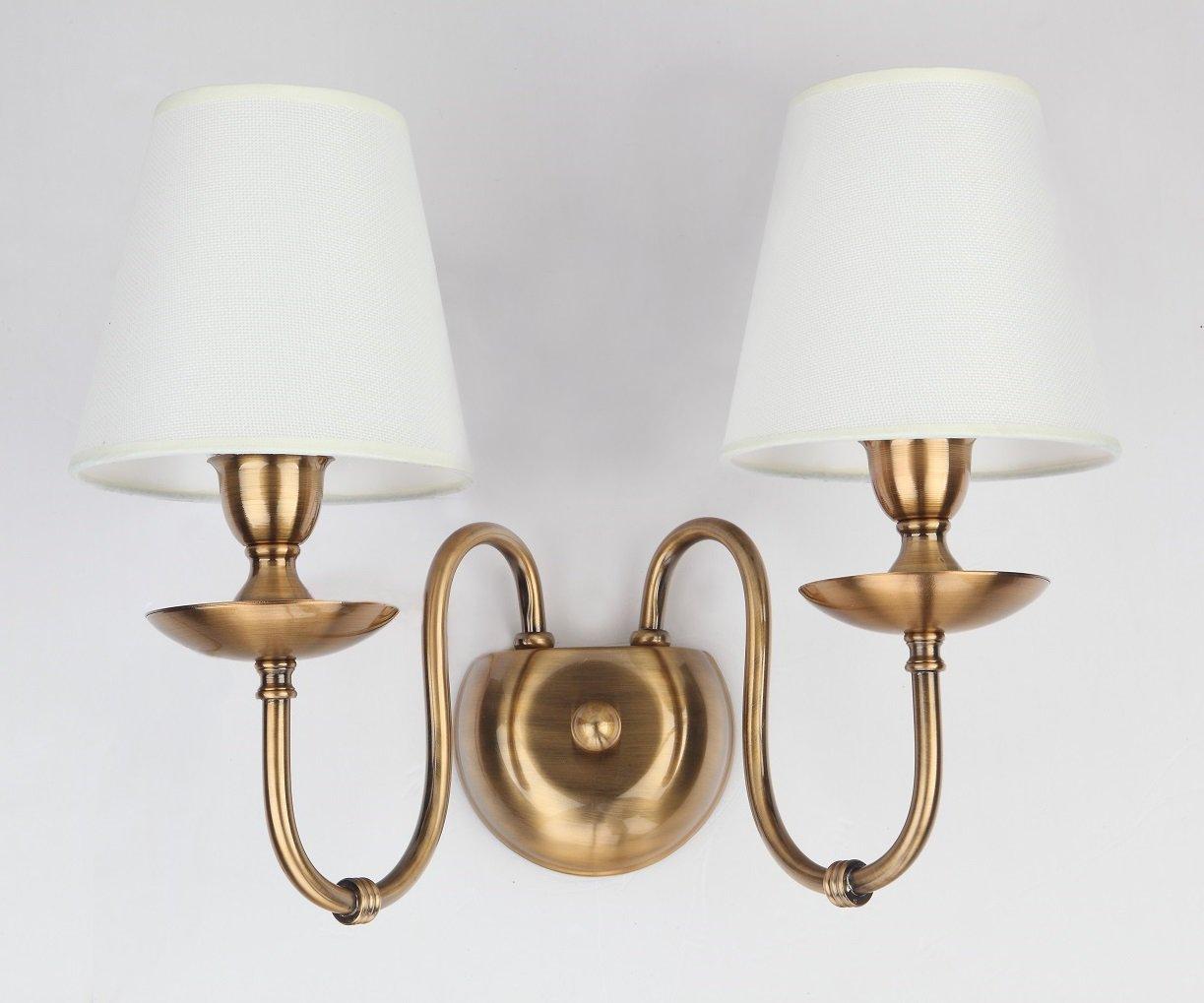 E14 Lámpara de pared Por WENSENY Blanco Lino Cortinas de la ...