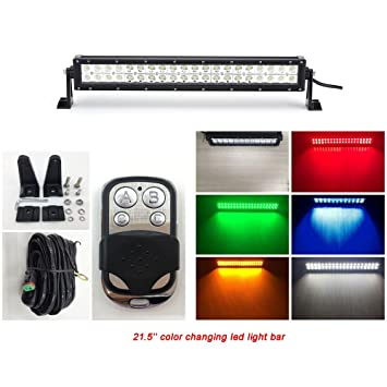 Amazon vivid light bars 215 inch color changing dual row amber vivid light bars 215 inch color changing dual row amber led light bar 12v led fog aloadofball Image collections