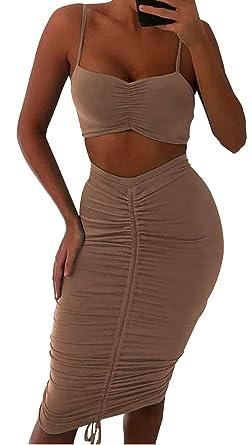 Conjunto de Mujer Beige. Conjunto Fashion con Falda Regulable ...