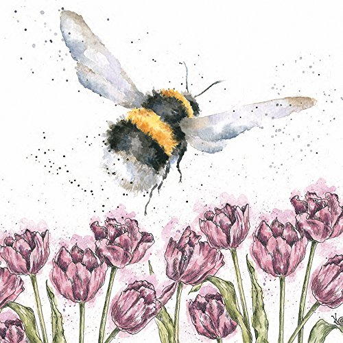 Artistic Greeting Card (WRE2455) - Blank/Birthday - Flight of the Bumblebee - Country Set Collection - Hannah Dale Wrendale Designs