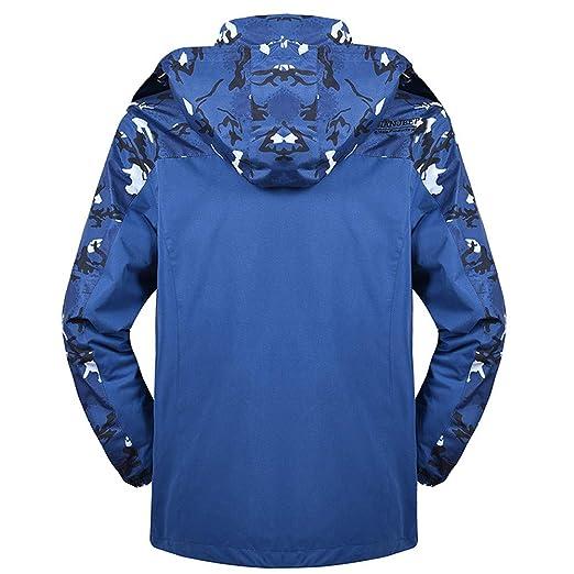 Amlaiworld Chaqueta de Hombre otoño Invierno Abrigo Deportivo de Dos Piezas de Invierno de Camuflaje para Hombre Abrigos Parka de Correr Outwear Sudaderas: ...