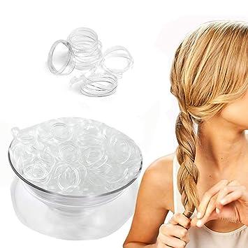 Amazon Com Gofypel Clear Elastic Hair Bands Women Elastic Rubber