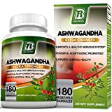 BRI Nutrition Ashwagandha – Premium Stress & Anxiety Relief w/Energy Boost & Calm, 1000mg Per Serving – 2 Vegetarian Vegetable Capsules (180 Count) Review