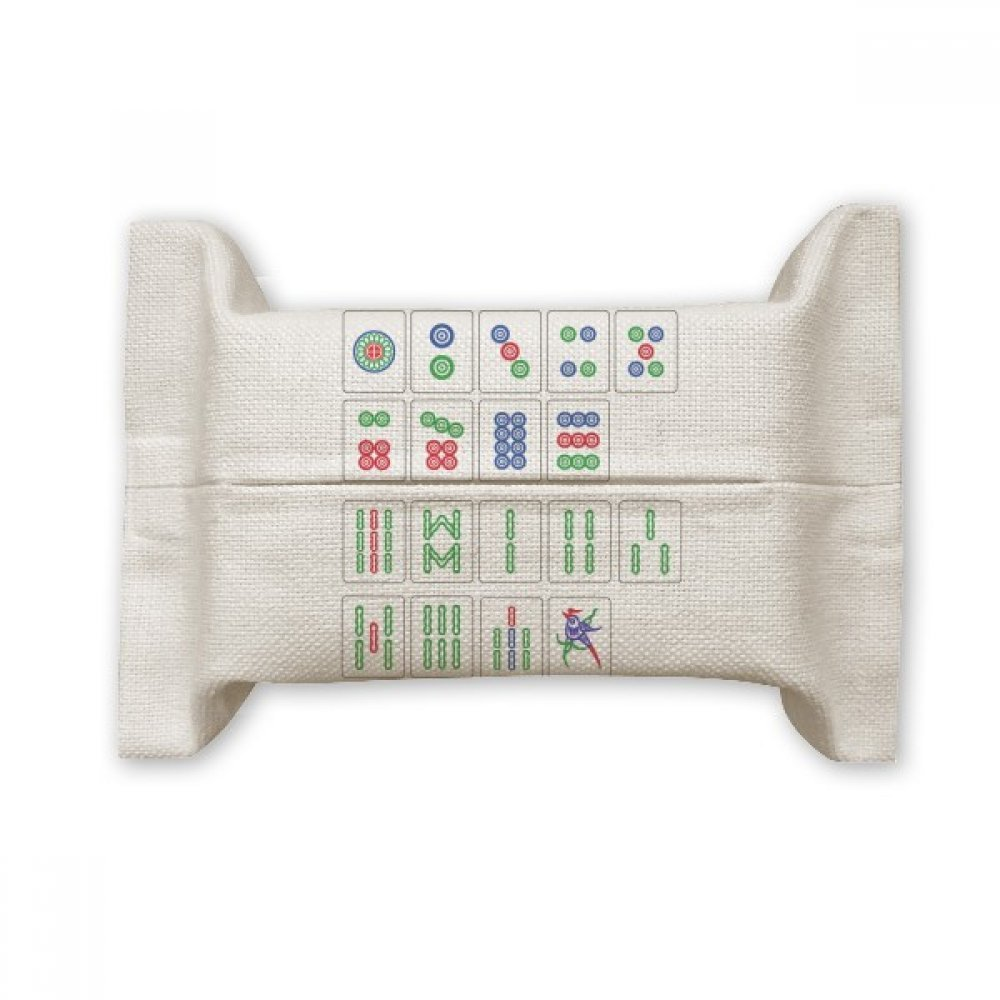 DIYthinker Chinese Culture Mahjong Chess Game Cotton Linen Tissue Paper Cover Holder Storage Container Gift