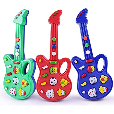 Kekailu Guitar Toy,Mini Cartoon Electronic Guitar Educational Toddlers Musical Instrument Kids Toy,Random Color: Home & Kitchen