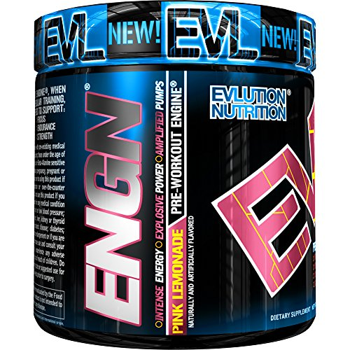 Evlution Nutrition ENGN Pre-Workout, Pikatropin-Free, 30 Servings, Intense Pre-Workout Powder for Increased Energy, Power, and Focus (Pink Lemonade)