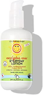 product image for California Baby Eucalyptus Ease Everyday Lotion (8.5 Ounces) | 100% Plant-based (excludes water) | Moisturizer for Dry, Sensitive Skin | Post Bath and Diaper Changing