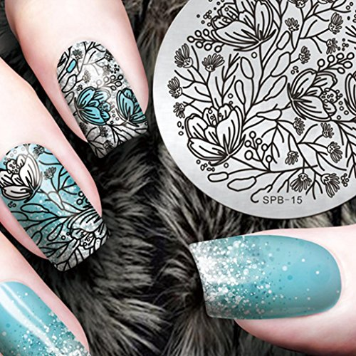 AMA(TM) Christmas Nail Art Image Nail Art Stamping Plate Manicure Image Template Stamping Tool (E)]()