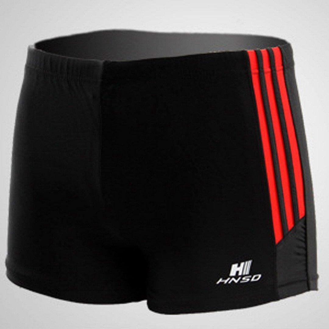 FEOYA Men's Square Leg Swimsuit Swimming Brief Swimming Trunks Swimming Shorts Size XXL - Black by FEOYA (Image #4)