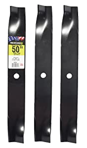 "Maxpower 561381 3-Blade Set for 50"" Cut Toro TimecutterZ Replaces Toro 110-6837-03, 112-9759-03"