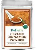 Healthworks Ceylon Cinnamon Powder Raw Organic, 1lb, (packaging may vary)