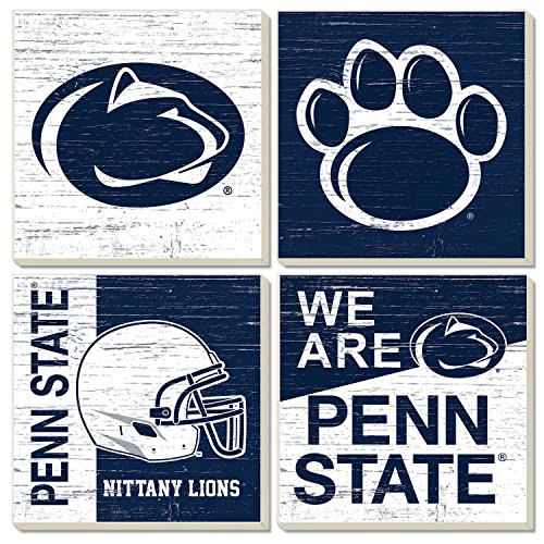 (Square Collegiate Coasters (Set of 4) (Penn State))