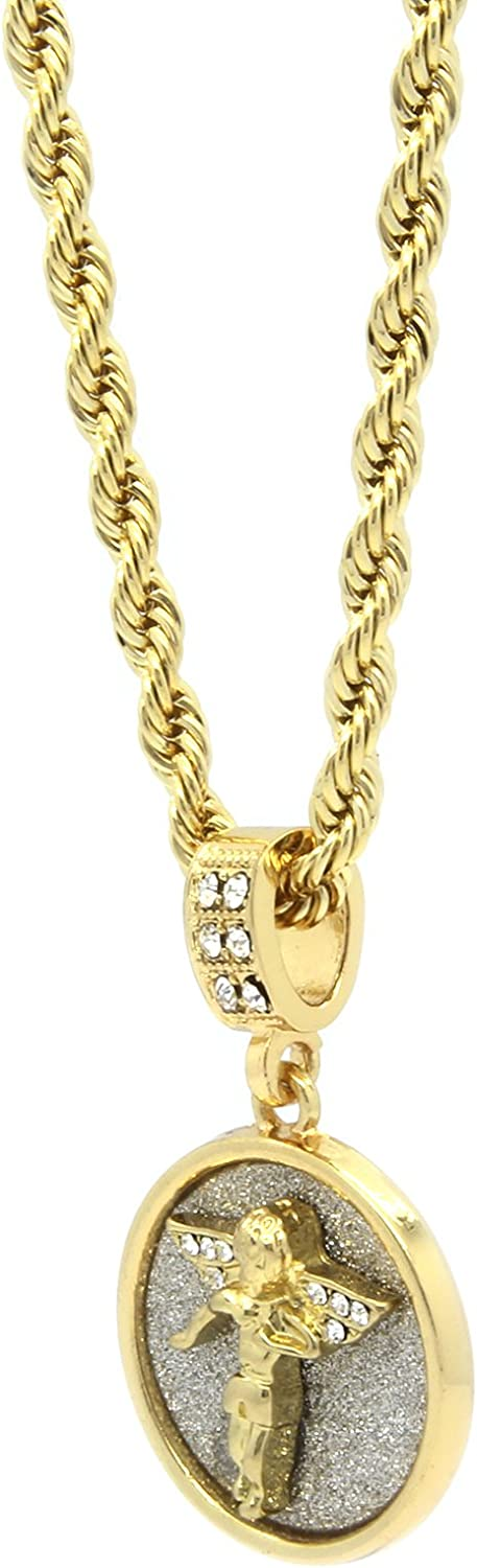 """Mens Hip Hop Stardust Lions Head Pendant With 24/"""" Rope Chain"""