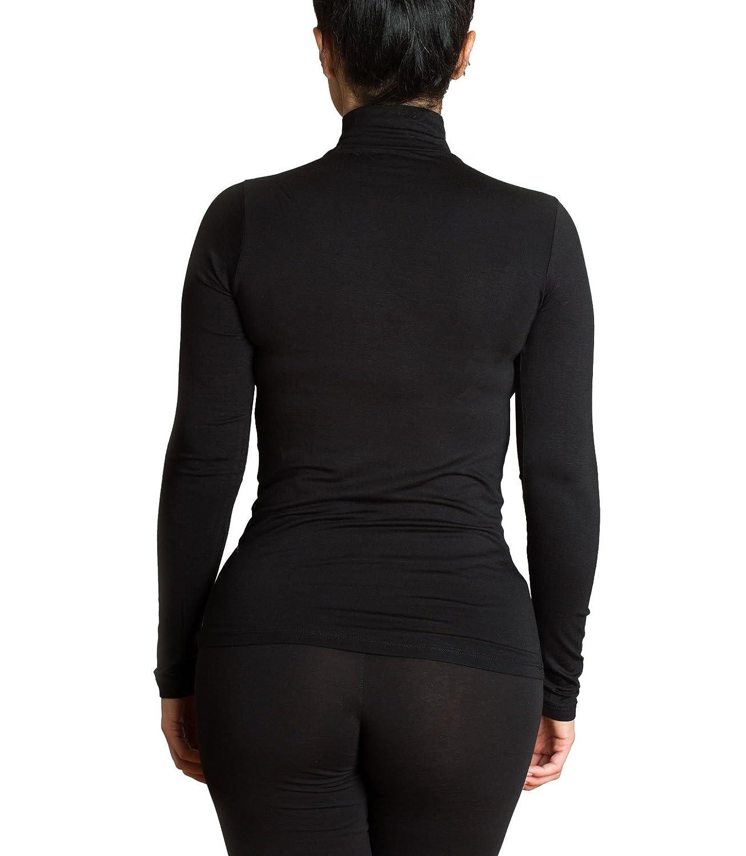 c89c2fddb9f1 KEFALI Cologne Kefali Langarmshirt Damen mit Halbkragen Shirt Top Unterhemd  Viskosejersey Longsleeve Multipack  Amazon.de  Bekleidung