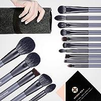 Makeup Brush Set, EIGSHOW 15 Piece Professional Makeup Brushes Kit with Corn Silk Fiber Vegan Brushes for Foundation…