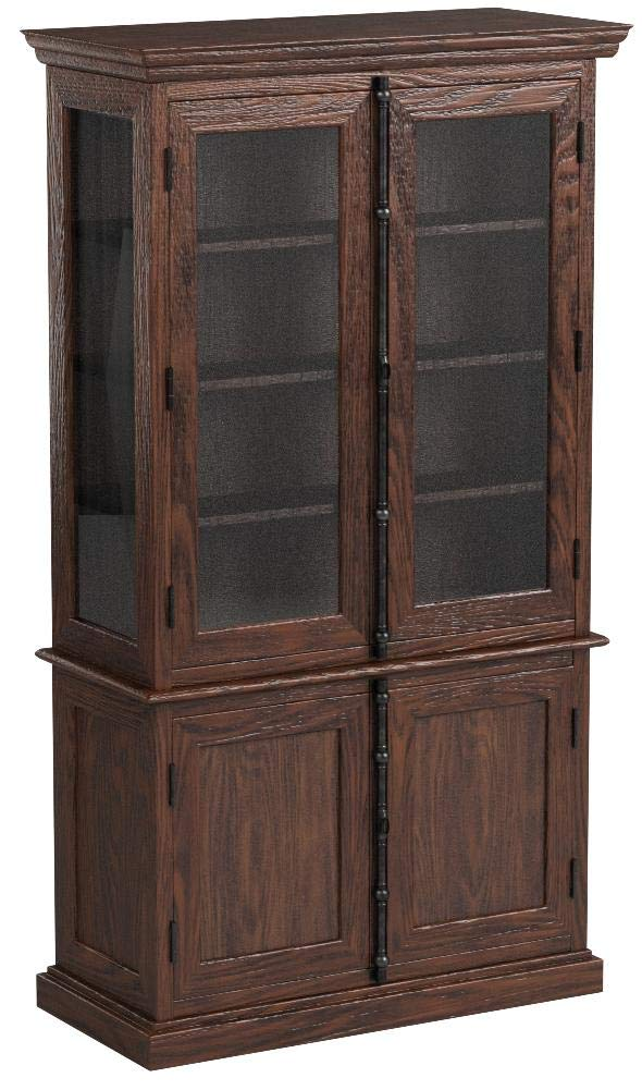 Saint Jean Colonial Lighted China & Hutch in Distressed Walnut by NCF (Image #1)