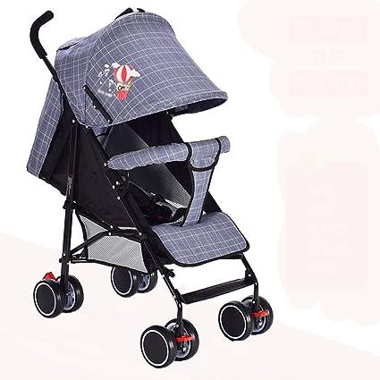 &Carrito de bebé carrito de bebé empujar paraguas para bebés Simple portátil Ultraligero (Color :