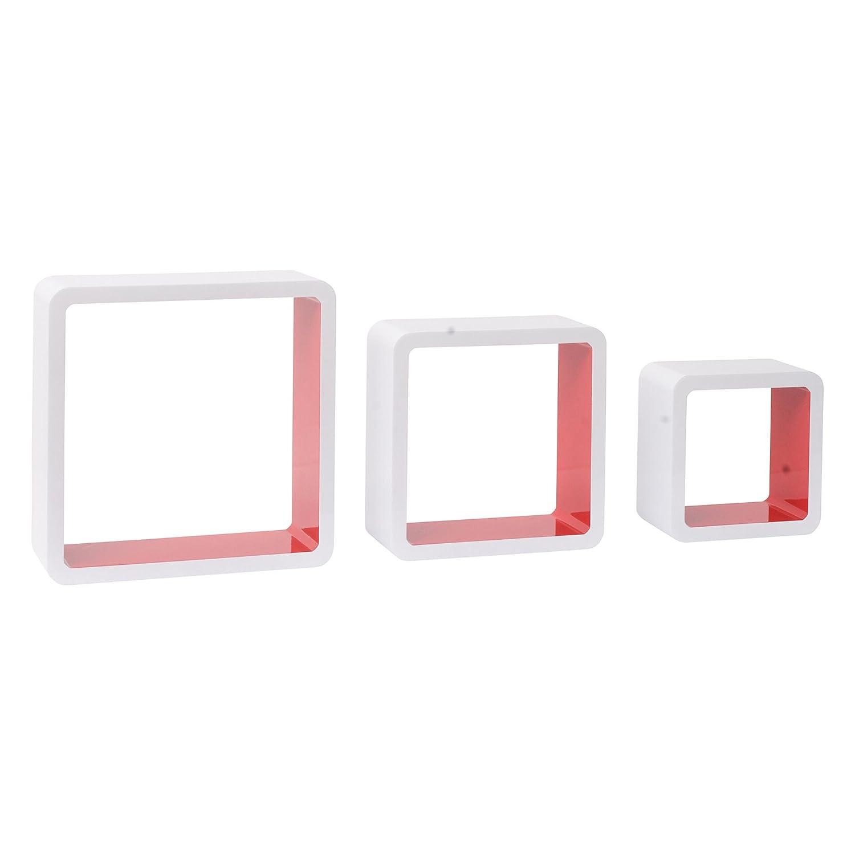 Regal Wandregal Cube Retro Aufbewahrung Cube Würfel braun Quadrat Homestyle4u