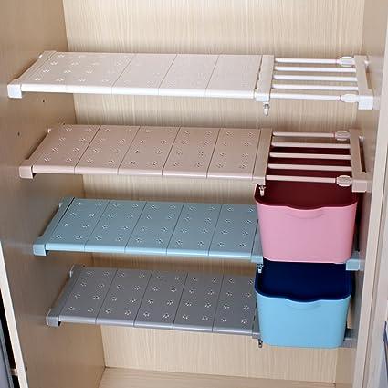 aevel telescópico de almacenamiento estante Armario de uñas gratis para Kithchen, Caddy, armario de baño, gabinetes, estantería Prop de recolección de ...