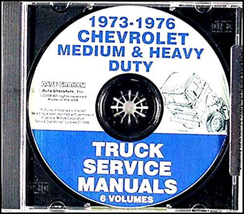 1973_1974_1975_1976 Chevy 40-95 Medium and Heavy Truck Repair Shop & Service Manual CD Includes; P, C, S, T, M, H, J, T, W, F, & D. Covers conventional cabs, short conventionals, tilts, Titan 90, and rear engine forward control Chevrolet