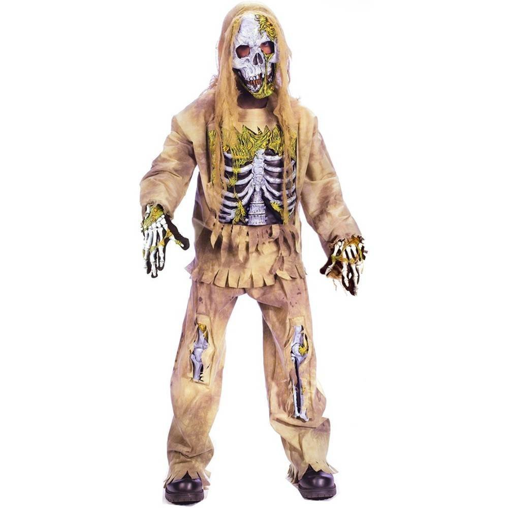 Halloween Fun Worldスケルトンゾンビ子コスチューム、中8 – 10   B074GBFDKH