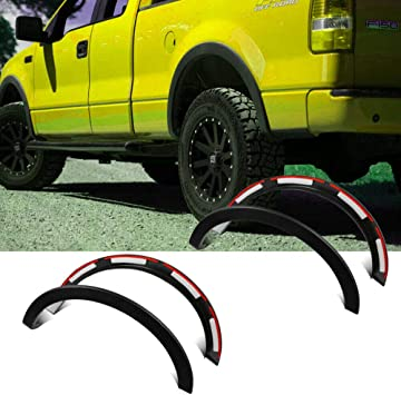 For 2009-2014 Ford F150 Matte Black Pocket Style Fender Flares Wheel Protector