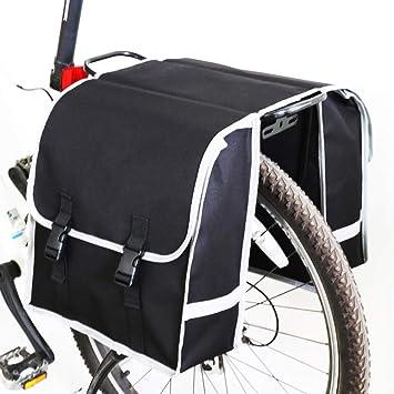 Bolsa Alforja Trasera Bicicleta, Bolsa de Doble Bolsillo para ...