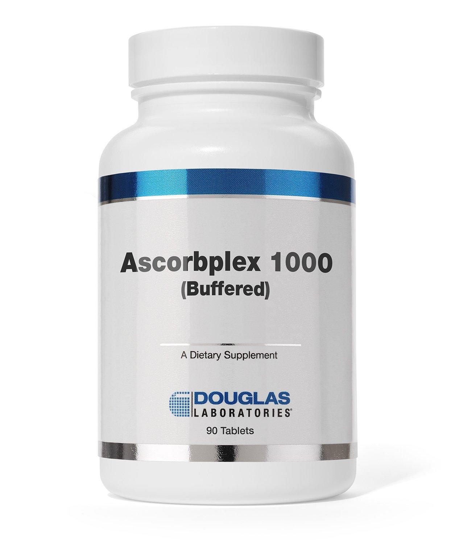 Douglas Laboratories - Ascorbplex 1000 (Buffered) - 100% Pure Vitamin C Buffered with Calcium, Magnesium and Potassium - 180 Tablets
