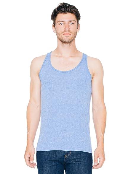 American Apparel Men's Tri-Blend Tank Medium Athletic Blue