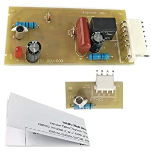 4389102 Refrigerator Icemaker Emitter Sensor Control Board Kit Compatible for Whirlpool Maytag Kenmore Replace 2198586 2220398 W10757851 AP5956767 ADC9102 PS557945 AP3137510 by TOPEMAI