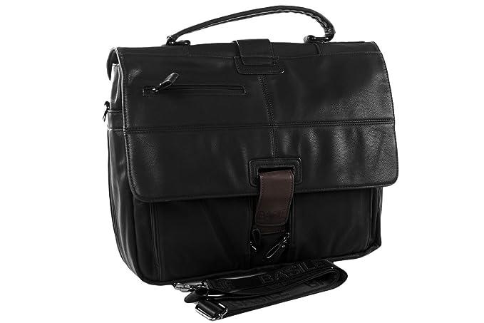 Abbigliamento Ufficio Uomo : Cartella professionale uomo basile nera borsa ufficio porta pc
