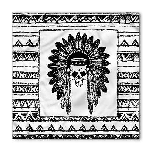 Horseshoe Bandana, Symbol for Good Luck Riding Equipment Blacksmith Arch Pattern Symbolic Print, Printed Unisex,39.339.3inch
