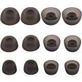 BLLQ 12 PCS Replacement Ear Gels Ear Buds Tips Eargels Eartips for Jabra Elite 75t Earbuds/Jabra Elite Active 65t Earbuds/Jabra Elite 65t Earbuds, S/M/L 3 Size 6 Pairs, Gray 75t Tips
