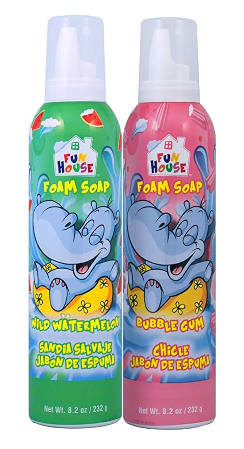 Fun House Kids Foam Soap Wild Watermelon & Bubble Gum,2 Pack