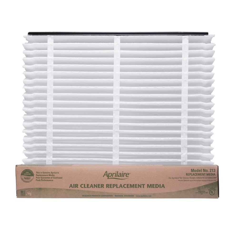 Aprilaire 213 Air Filter for Air Purifier Models 1210, 2210, 3210, 4200, 2200; Pack of 8