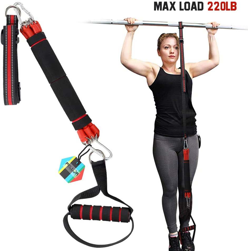 New Black Heavy Duty 3 in 1 Pull Up Bar with resistance band loops