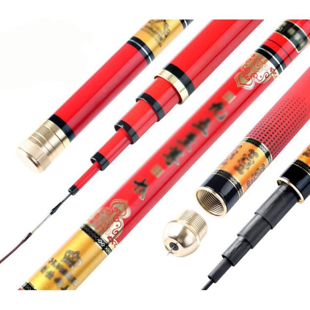 rouge 4.8M L.L.QYL Canne à pêche Canne à pêche voiturebone Outil De Pêche Longue Section Hommesottes Attirail De Pêche Canne à pêche