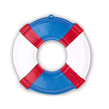 NET TOYS Salvavidas marinos de rescate decorativos en 3D neumáticos marítimo vigilantes fiesta en la piscina