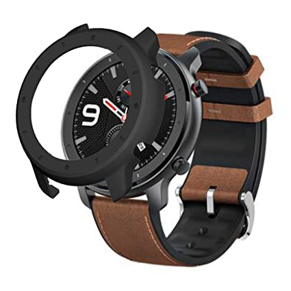 Yukuai Smart Watch Protector Case for Xiaomi Huami Amazfit GTR Watch Soft Ultra-Slim Clear Scratch Compatible for Xiaomi Huami Amazfit GTR with Full ...