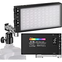 Pixel G1s RGB Video Light, Built-in 12W Rechargeable Battery LED Camera Light 360° Full Color 9 Common Light Effects…