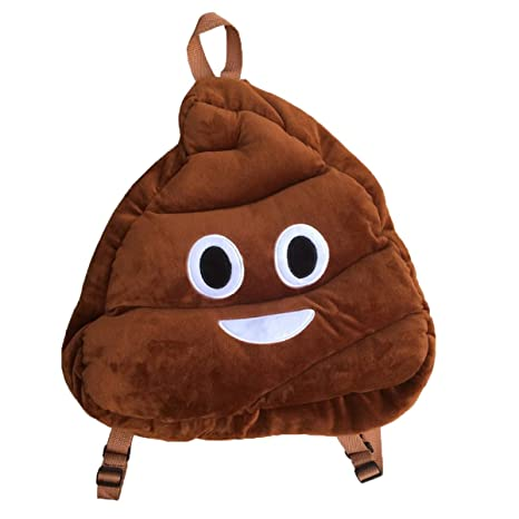 Amazon.com: WEP Emoji Smily Rosa Poop almohada Mochila ...