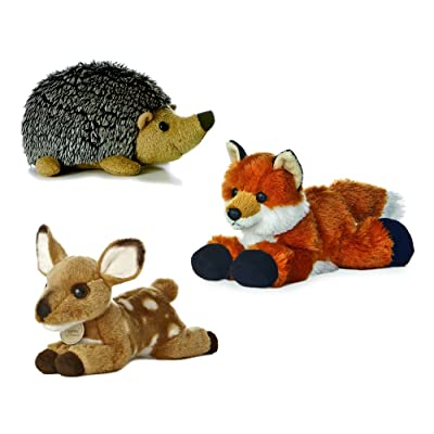 "Aurora Howie Hedgehog Foxie Fox Miyoni Fawn Mini Flopsie 8"" Bundle: Toys & Games"