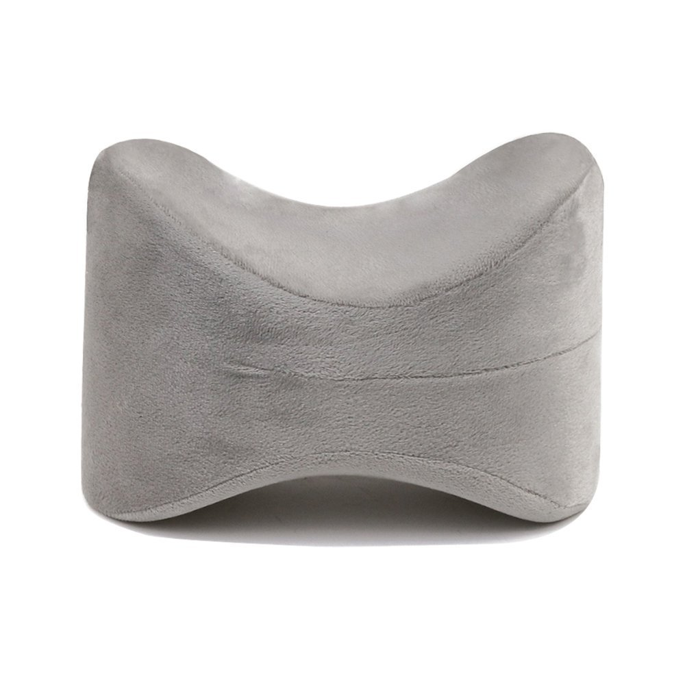 Cure Pillow Knee Support for Side Sleeping with Memory Foam (Grey)