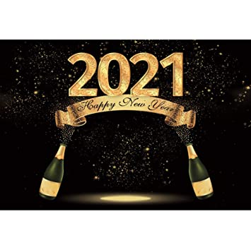New 2020 Happy New Year Backdrop 7x5ft New Year Party Photos Background Glitters Bokeh Background New Year Eve Events Decor Festival Celebration New Year Photo Booth 2020 New Year Video Props