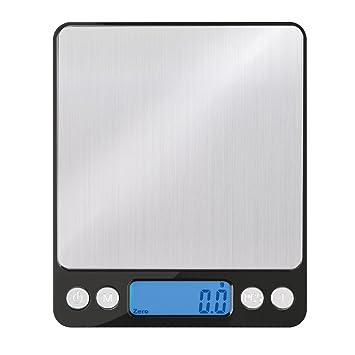 Inateck - Básculas de Cocina,Smart Weigh,Mini Multifuncional Balanza Digital para Cocina y Alimentación, Joyería y Más, Color Negro