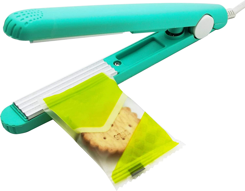 Tititek Household Heat Sealer Bags Machine Food Saver Storage Color Street Nail Strips Bag Sealer for Food (Green)