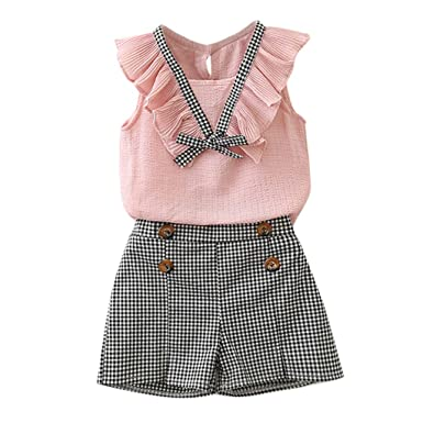 432bf2b31 Amazon.com  Baby Toddler Girls Spring Spring Clothes Outfits 2-7 ...
