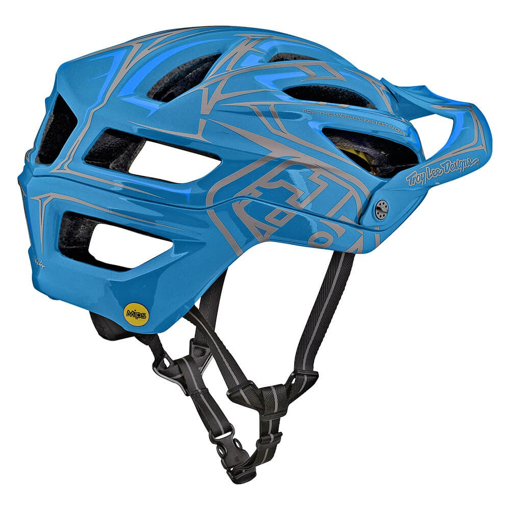 Troy Lee Designs A2 Pinstripe 2 Mountain Bike Adult Helmet 2018 with MIPS Protection and X-Static Liner meets/exceeds CPSC CE-EN AS/NZS Medium/Large Ocean Blue by Troy Lee Designs (Image #2)